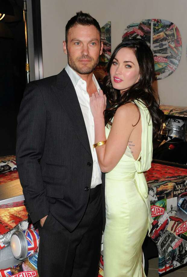 Megan Fox married actor Brian Austin Green in 2010 when Fox was 22 and Green was 37. They are rumored to be expecting their first child. Photo: Getty Images For Jaguar
