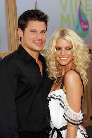 Jessica Simpson married Nick Lachey when she was 22 — and a virgin. The couple split in 2006, and both have since remarried. Simpson had a baby girl earlier this year, and Lachey is expecting his first child this fall. Photo: Evan Agostini, Getty Images / 2005 Getty Images