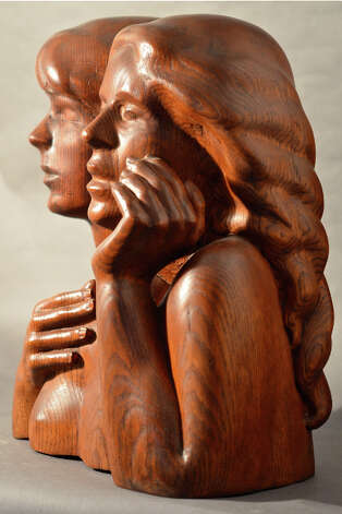 """Annunciation,"" by Janice Mauro,"" is featured in ""First Ladies"" at City Lights Gallery in Bridgeport through April 4. Photo: Contributed Photo"