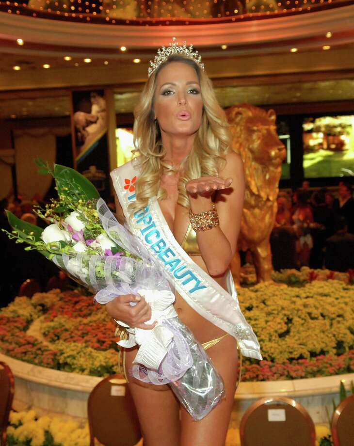 Plenty of competition for competitive swimsuit wearing. Here, Miss TropicBeauty 2013 Linda Zimany of Hungary appears at the third annual TropicBeauty World Finals at the MGM Grand Hotel/Casino on Saturday in Las Vegas.  (Photo by Bryan Steffy/Getty Images) Photo: Bryan Steffy, Multiple / 2013 Bryan Steffy