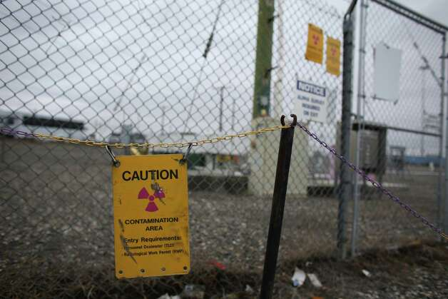 Signs warn of a contaminated area at C-Tank Farm. Photo: JOSHUA TRUJILLO / SEATTLEPI.COM
