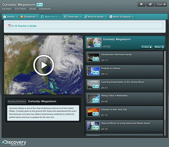 "This product image provided by Discovery shows a science lesson on Superstorm Sandy for students in grades six through high school. Discovery's lessons _ branded ""Techbooks"" run on laptops, desktops, iPads or other tablets. (AP Photo/Discovery) Photo: Uncredited"