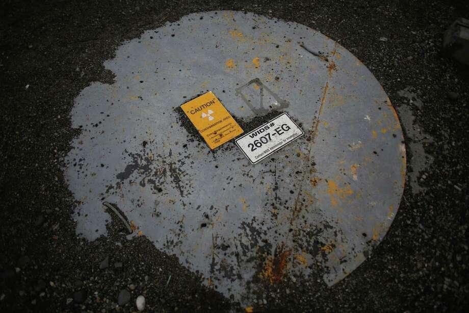 Signs warn of a contaminated area at C-Tank Farm. Photo: JOSHUA TRUJILLO / SEATTLEPI.COM