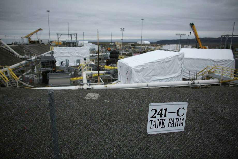 C-Tank Farm is shown during a tour of the Hanford Nuclear Reservation near Richland. Photo: JOSHUA TRUJILLO / SEATTLEPI.COM