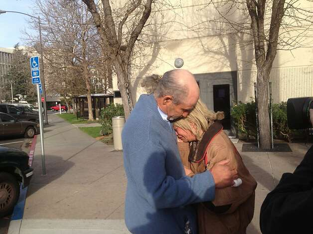 Lisa Modawell hugged her boyfriend Dario Mira after being released from San Mateo County Jail on Wednesday March, 6, 2013. Photo: Will Kane, The Chronicle