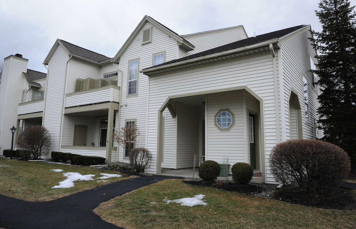 Exterior of Sen. Catherine Young's condo, at right, Wednesday March 6, 2013, in North Greenbush, N.Y. Sen. Young has improperly claimed a property tax exemption on both the condo she owns in North Greenbush and her Cattaraugus County home for almost a dozen years. (Lori Van Buren / Times Union)