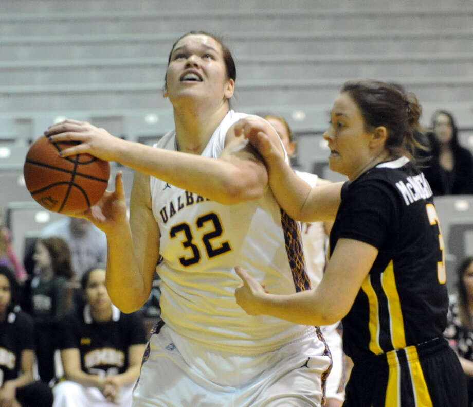 At 6-foot-9 sophomore Megan Craig has become UAlbany's second-leading scorer. (Hans Pennink / Special to the Times Union)