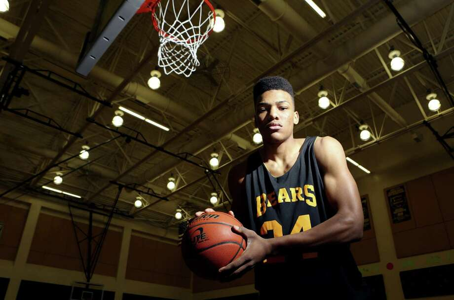 Brennan senior forward George King will aim for a state title while trying to impress recruiters when the top-ranked Bears play in the Class 4A state tournament tonight in Austin. Photo: Helen L. Montoya / San Antonio Express-News
