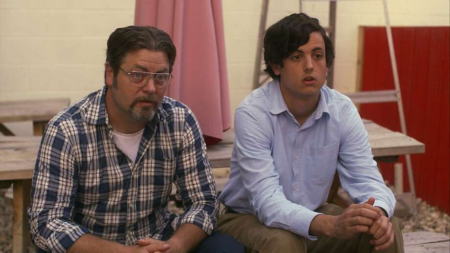 "Nick Offerman and Keith Poulson in ""Somebody Up There Likes Me."" Photo: Tribeca Film"