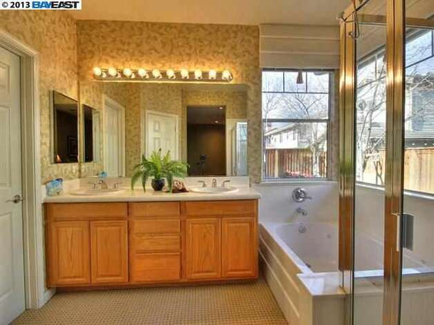 Master bath with shower and tub.