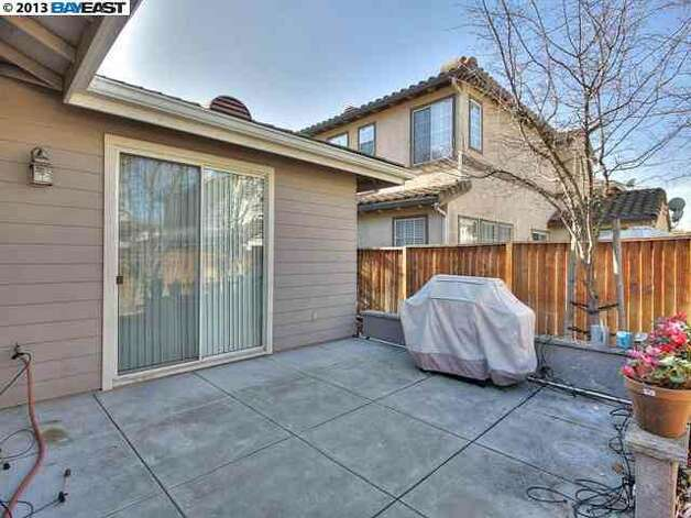 With only a 4,000 square foot lot, there's not a ton of backyard space.