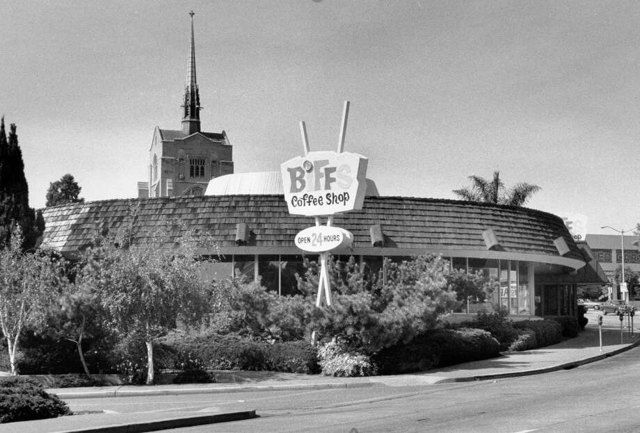 BIFF'S COFFEE SHOP: This Oakland institution at Broadway and 27th had an interesting circular architecture and a loyal customer base. It closed in the 1990s to great sadness -- there's still a web site devoted to memories. I would take my kids here every week. Pictured in 1990. Photo: Jerry Telfer, The Chronicle / ONLINE_YES