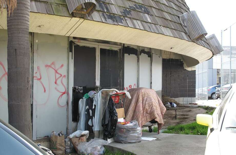 BIFF'S: A look at the homeless camp next to the restaurant. The outside is intact, but filled with graffiti and other signs of neglect. Most of this is cosmetic, and I'm hopeful the inside looks better. This could be the latest great restoration success story in Uptown Oakland.