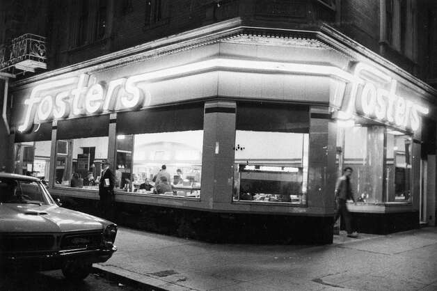 FOSTERS: My mother tells me stories of Fosters, a popular diner chain that had 20-plus locations throughout the Bay Area -- shown here at Fifth and Jessie streets in San Francisco. According to my mom: I was a little kid and wouldn't eat anything, and I would eat a Fosters burger. Photo: Greg Peterson, The Chronicle / ONLINE_YES