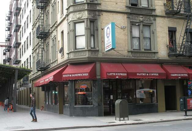 THE PRESS COFFEE SHOP (NOW): The diner has changed hands a couple of times, but the Oakwood Hotel remains. (Although considerably more run-down in 2013.) In the 12 years I've worked at the Chronicle, this area has improved considerably.