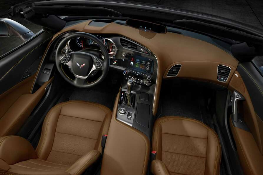 The all-new 2014 Chevrolet Corvette Stingray convertible interior blends fine materials and craftsma