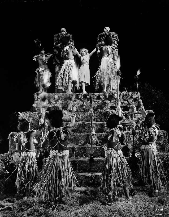 """Canadian-born actress Fay Wray plays the beleaguered heroine of the classic monster movie """"King Kong."""" The natives tie her to a ceremonial altar as a human sacrifice for the giant ape. Photo: Ernest Bachrach, Getty Images / Moviepix"""