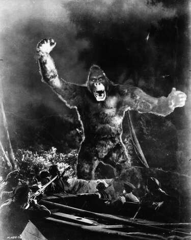 "Kong the immense prehistoric ape attacks group of men who are trying to attack him in a scene from the film ""King Kong"" Photo: Archive Photos, Getty Images / 2012 Getty Images"