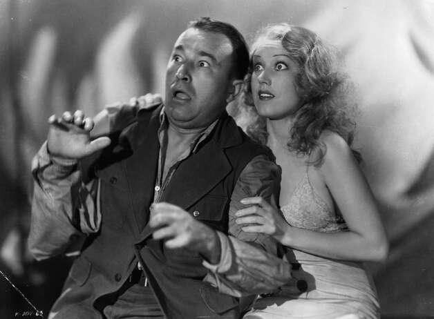 "Robert Armstrong and Fay Wray looking up in horror in a scene from the film ""King Kong."" Photo: Archive Photos, Getty Images / 2012 Getty Images"