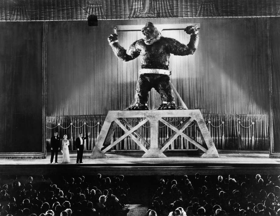 "Robert Armstrong and Fay Wray on stage with captive beast in a scene from the film ""King Kong."" Photo: Archive Photos, Getty Images / 2012 Getty Images"