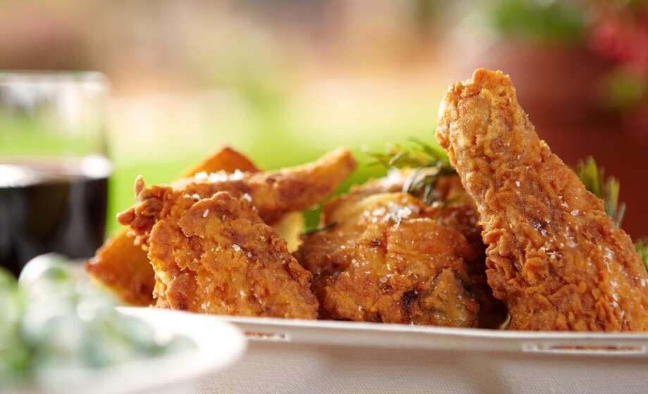 Fried chicken at Addendum.