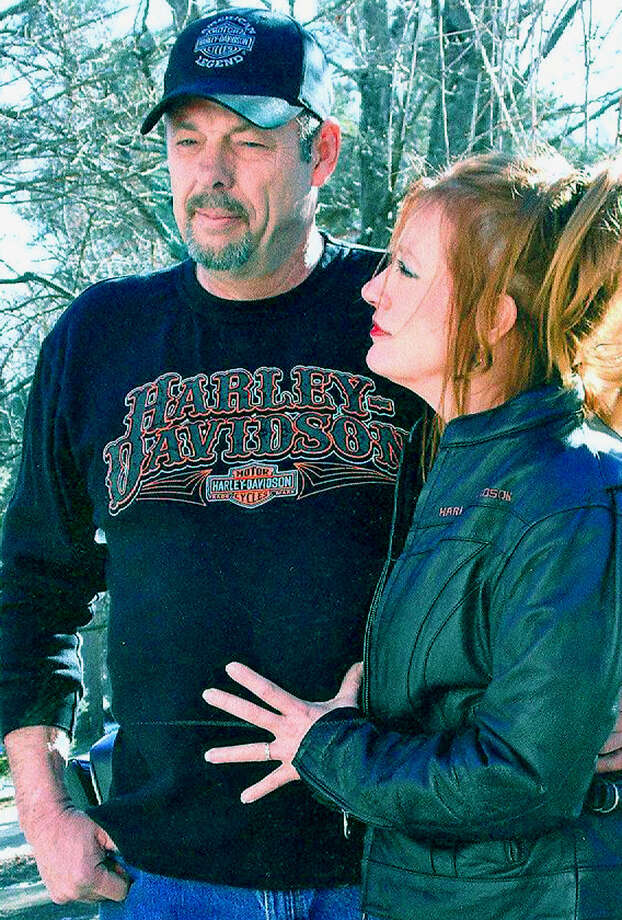 Cherie Prange and Michael Thompson were married Jan. 27, 2013 at their home in New Milford. Photo: Contributed Photo