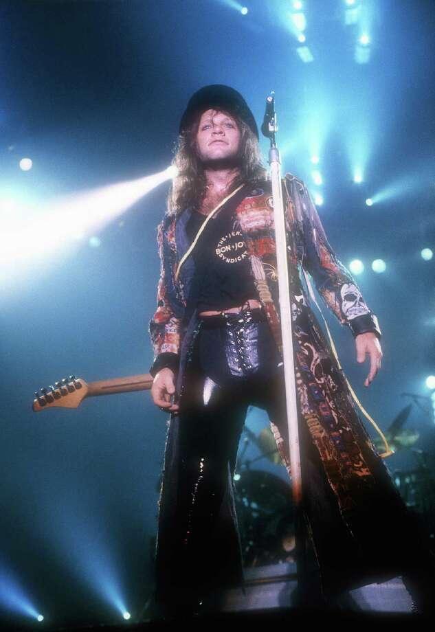 Jon Bon Jovi live at Ahoy in Rotterdam in 1986. Photo: Rob Verhorst, Getty Images / Redferns