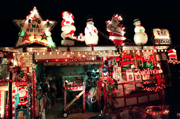 Ed Clark's Christmas House at 14106 Short Horn in Northeast San Antonio. This is just his garage area. Photo: TOM REEL, SAN ANTONIO EXPRESS-NEWS / SAN ANTONIO EXPRESS-NEWS