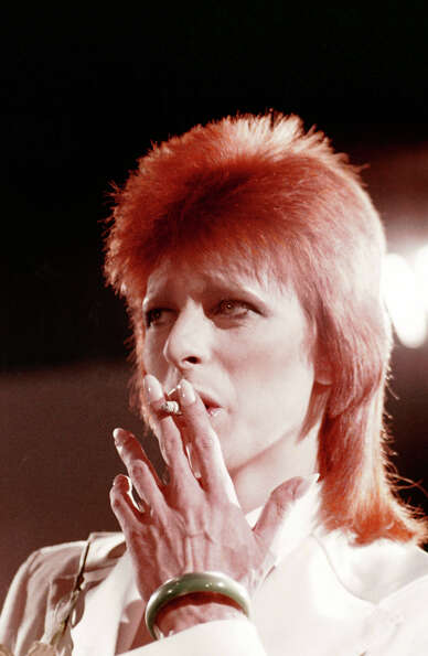 David Bowie during his last show as Ziggy Stardust filmed mostly at The Marquee Club in London, 1973