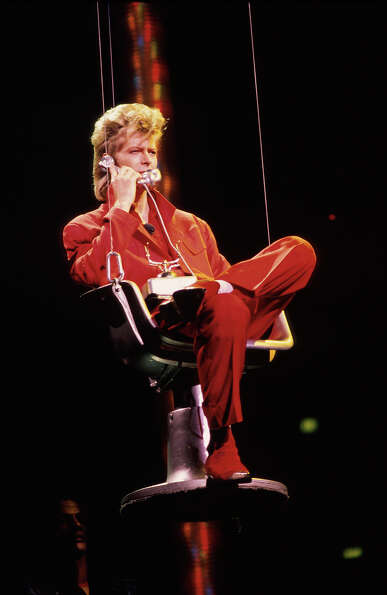 Musician David Bowie performing in 1987.