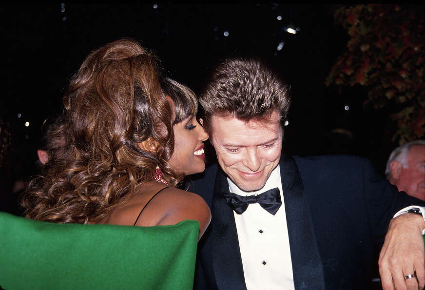Model Iman and husband, musician David Bowie, circa 1992.