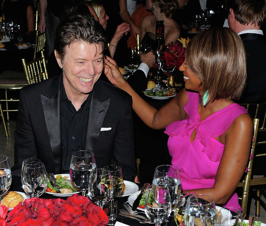 Musician David Bowie and supermodel Iman attend the DKMS' 5th Annual Gala: Linked Against Leukemia honoring Rihanna & Michael Clinton hosted by Katharina Harf at Cipriani Wall Street in 2011 in New York. Photo: Andrew H. Walker, Getty Images / 2011 Getty Images