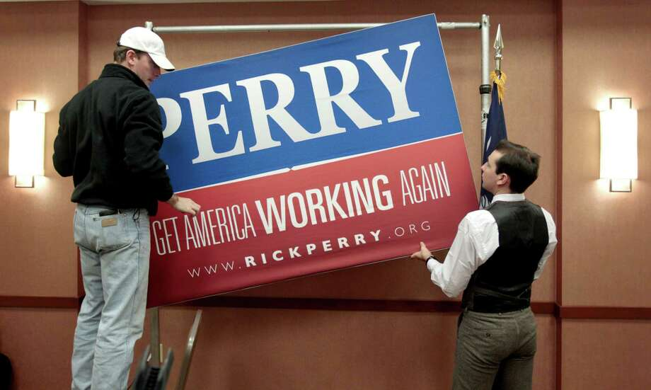 Perry announced the end of his candidacy in North Charleston, S.C. on Jan. 19. Photo: David Goldman, Associated Press / AP