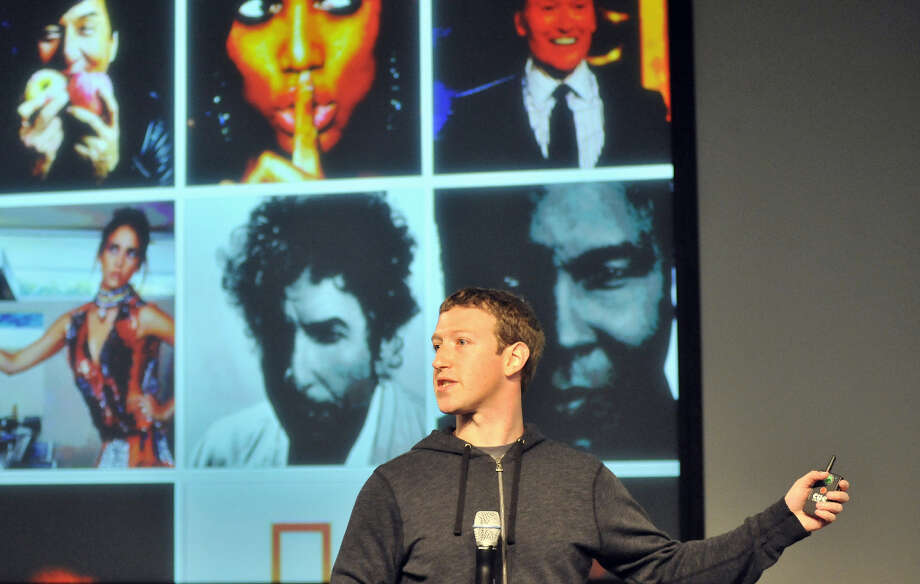 Facebook CEO Mark Zuckerberg speaks during a media event at Facebook's Headquarters office in Menlo Park, California on March 7, 2013. Today, Facebook announced updates to their News Feed. Photo: JOSH EDELSON, AFP/Getty Images / AFP
