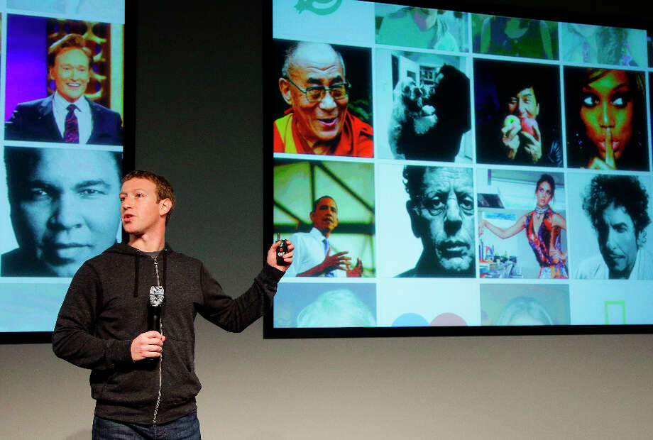 Facebook CEO Mark Zuckerberg speaks at Facebook headquarters in Menlo Park, Calif., Thursday, March 7, 2013. Zuckerberg on Thursday unveiled a new look for the social network's News Feed. Photo: Jeff Chiu, Associated Press / AP