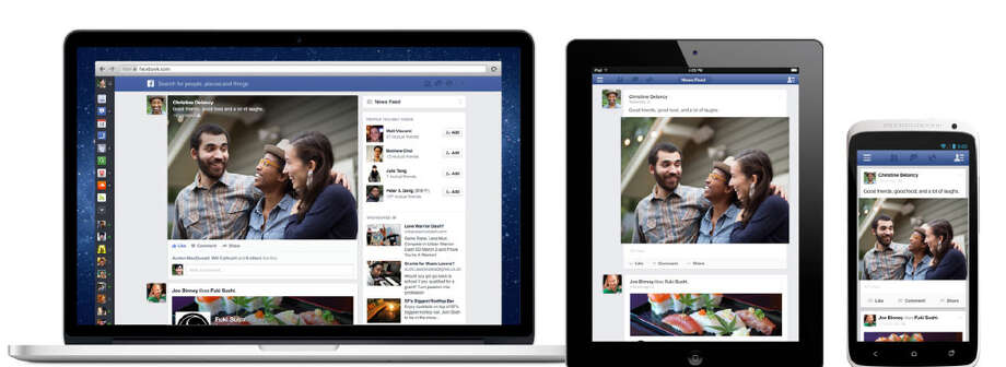 With the new design, now Facebook has the same look and feel on mobile, tablet and web.