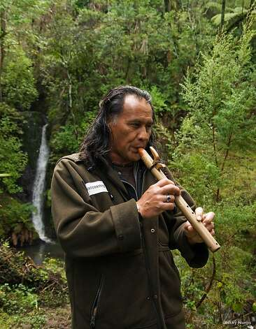 One of the traditional Maori musical instruments is the nguru, a small flute of wood, stone or bone played with air from the nose rather than the mouth; you might hear one played at a Matariki cultural performance. Hawaiians also make flutes (hano) to be played with the nose (ihu); made out of bamboo ('ohe), they're called 'ohe hano ihu and traditionally used for romancing a sweetheart and hula. Photo: Becky Nunes