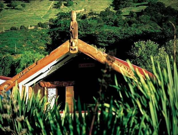 The wharenui (meeting house) is an important element of the marae, where the most important Maori cultural ceremonies and traditional oratory take place; communal feasts such as hangi are held in the wharekai (dining house.)  New Zealand carvers and builders helped construct the wharenui for the Aotearoa exhibit of the Polynesian Cultural Center Photo: Christchurch And Canterbury Marketing