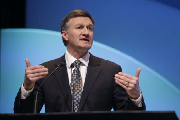 Al Monaco, president and CEO, Enbridge Inc. speaks during the IHS CERAWeek session titled North American Energy: The New Abundance and What it Means Wednesday, March 6, 2013 at the Hilton Americas in Houston.