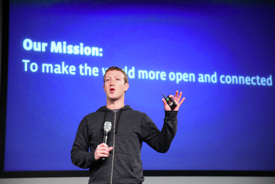 Mark Zuckerberg announces a redesign of  Facebook's  News Feed during a press conference at it's headquarters on Thursday, March 7, 2013 in Menlo Park, Calif. Photo: Lea Suzuki, The Chronicle / ONLINE_YES