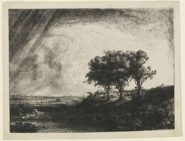 """The Landscape With the Three Trees"" (1643) is part of ""Rembrandt's Century"" at the de Young Museum. Photo: Unknown"