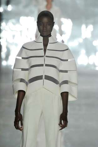 A model walks the runway at the Chado Ralph Rucci Spring Summer 2013 fashion show during New York Fashion Week on September 9, 2012 in New York, United States. Photo: Chris Moore/Catwalking, Getty Images / 2012 Catwalking
