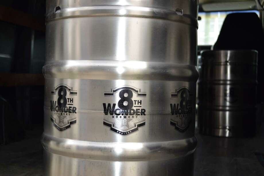 Keg of beer, part off the first delivery from new Houston brewery 8th Wonder Brewing Co. Photo: Ronnie Crocker