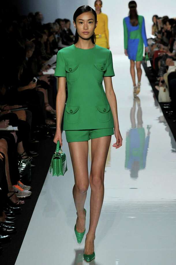 A model walks the runway at the Michael Kors Spring Summer 2013 fashion show during New York Fashion Week on September 12, 2012 in New York, United States. Photo: Chris Moore/Catwalking, Getty Images / 2012 Catwalking