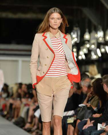 A model walks the runway at the Tommy Hilfiger Women's Spring 2013 fashion show during Mercedes-Benz Fashion Week at The Highline on September 9, 2012 in New York City. Photo: Slaven Vlasic, Getty Images For Mercedes-Benz F / 2012 Getty Images