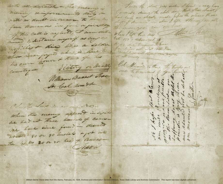 "The ""Victory or Death"" letter, written by Lt. Col. William Barret Travis in 1836 before the fall of the Alamo, still serves as a touchstone for liberty and freedom."
