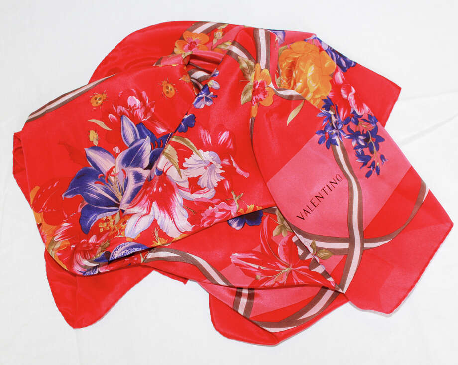 A Valentino scarf that will be available at Seattle Goodwill's annual Designer Accessory Sale. Photo: Seattle Goodwill