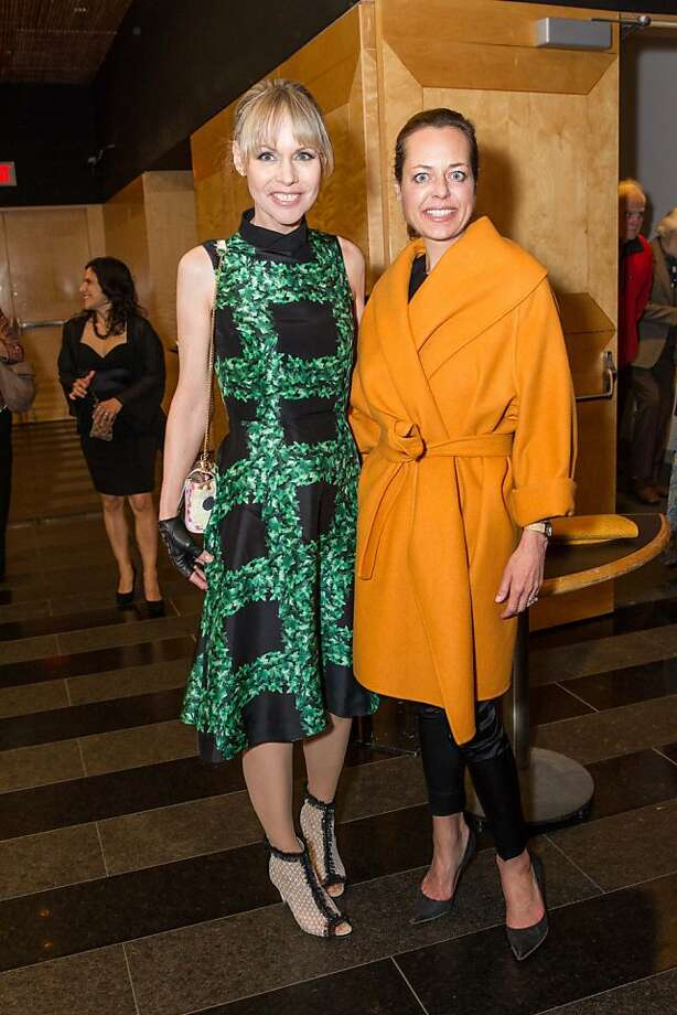 Christine Suppes and Charlot Malin at SFMOMA's Garry Winogrand opening reception on March 06, 2013. Photo: Drew Altizer Photography,