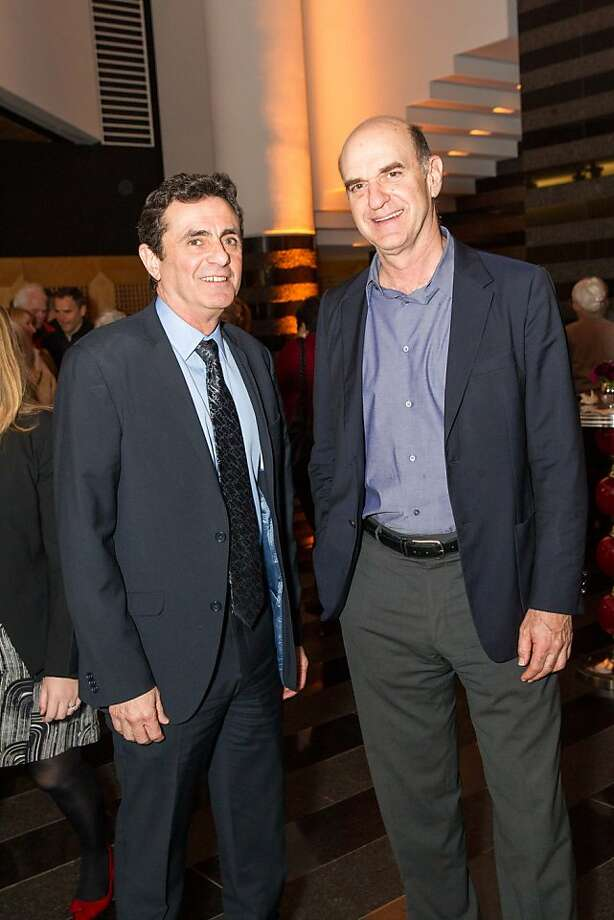 Neal Benezra and Bob Fisher at SFMOMA's Garry Winogrand opening reception on March 06, 2013. Photo: Drew Altizer Photography, Photo : Laura Morton For Drew Al
