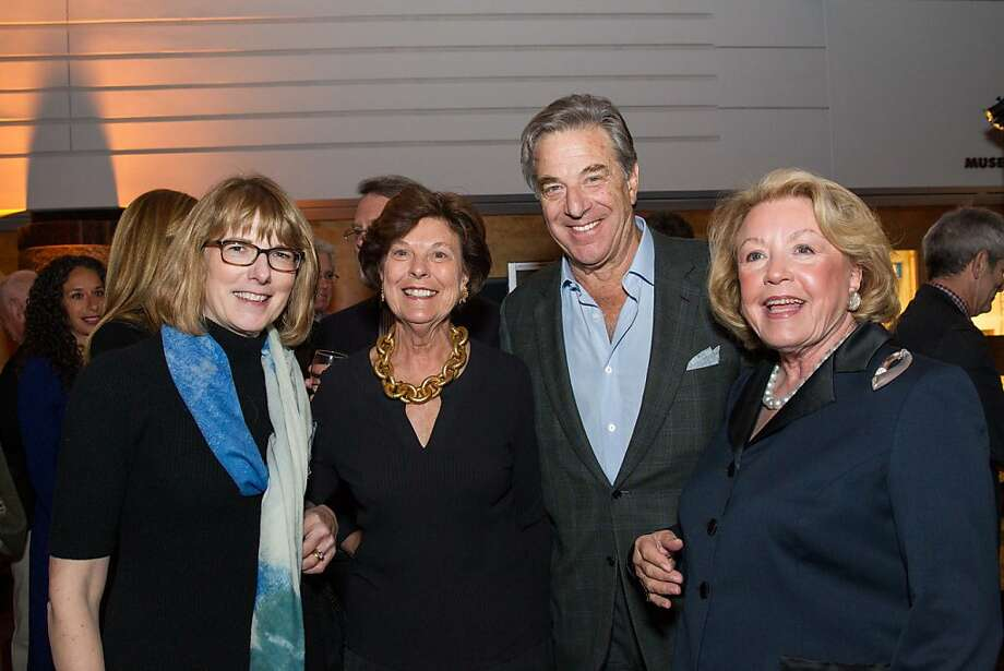 Sarah Greenough, Mary Robinson, Paul Pelosi and Kay Woods at SFMOMA's Garry Winogrand opening reception on March 06, 2013. Photo: Drew Altizer Photography, Photo : Laura Morton For Drew Al